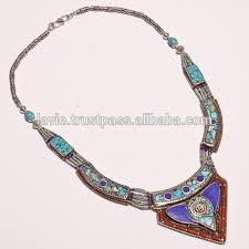 tibetan silver turquoise necklace images Natural turquoise coral lapisn gemstone necklace tibetan silver jpg