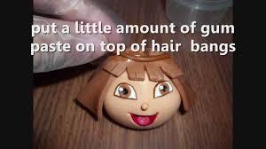 how to make dora u0027s face with gum paste for a dora u0027s cake youtube