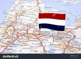 Map Netherlands Map Netherlands Dutch Flag Pointed Capital Stock Photo 64722646
