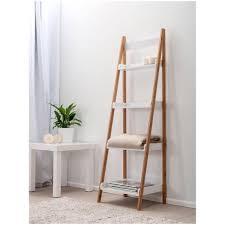 Leaning Ladder Bookcase by Splendid Ladder Shelf White 38 Corner Ladder Shelf White Monarch