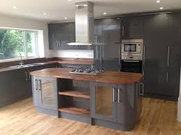 grey kitchen walnut worktop google search kitchen pinterest