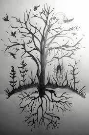 creepy tree by hebiak on deviantart