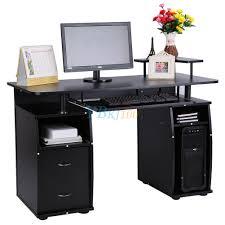 Kleiner Computer Schreibtisch Computertisch Pc Schreibtisch Arbeitstisch Büro Tisch Schwarz