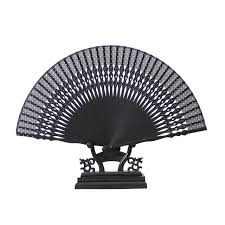 fans wholesale hot sale black cheaper bamboo folding fans wholesale