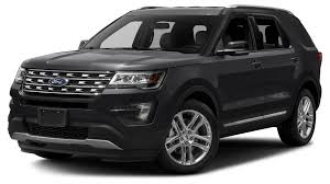 Ford Explorer All Black - 2017 ford explorer xlt 4 wheel drive with navigation in white
