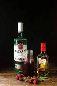 flaming dragon u0027s blood cocktail thyme raspberry daiquiri