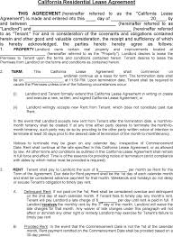 download california residential lease agreement 1 for free tidyform
