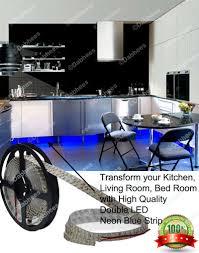 50cm blue led strip lights for cabinet display kitchen living room