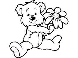 polar bear color page teddy bear coloring pages theme free printable teddy bear