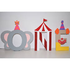 circus themed letters price is per letter one circus