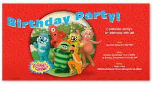 yo gabba gabba birthday party evite