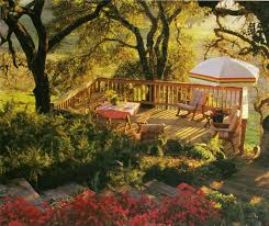 backyard slope landscaping ideas deck overlook slope sunset hillside landscaping page 28 walls