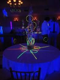 glow in the decorations neon flagging on hulla hoop glow party decoration fnid more