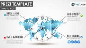 World Time Clock Map by Time To Act Prezi Template Prezibase