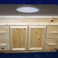 handmade knotty pine rustic bathroom vanity by fbt sawmill