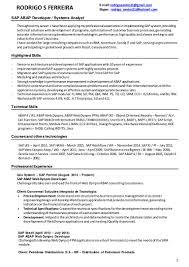 Hris Resume Sample by Sap Abap Wm Resume Virtren Com