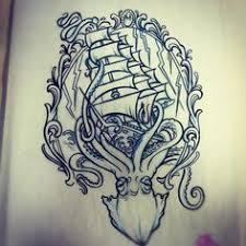 kraken simon erl nice shade of blues tattoos pinterest