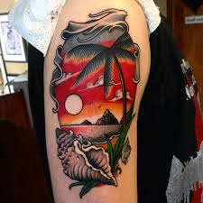 102 sunset tattoos ideas designs by artist