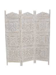 Moroccan Room Divider Pattee Moroccan Style Wooden Screen White