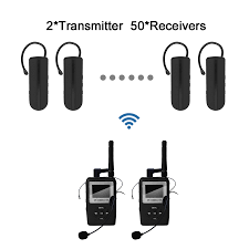 tour guide headset system uhf wtag05 wireless tour guide system mini black earhook receiver