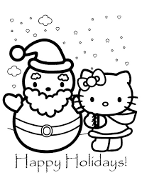 hello kitty christmas coloring pages learn to coloring