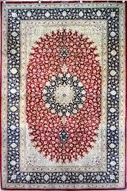 Silk Oriental Rugs Qum Silk Carpet Silk Persian Rug Item Hf 1225