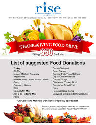 thanksgiving food donation list rise
