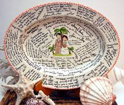 plate guest book guest book platter wedding tips and inspiration