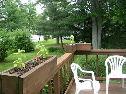white deck rail planter boxes doherty house deck rail planter