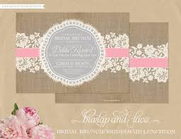 bridal lunch invitations burlap lace invitations bridal shower bridesmaids luncheon