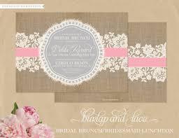 bridal lunch invitations burlap lace invitations bridal shower bridesmaids luncheon