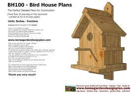 home garden plans bh100 bird ho luxihome