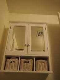 bathroom cabinets white bathroom wall cabinet with baskets