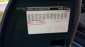 where is my paint code on my 2002 camaro ss ls1tech camaro