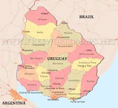 South America Political Map Map Of Uruguay South America Where Is Uruguay Location Of Uruguay