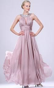 dusty purplelong chiffon jewel neck bridesmaid dress bd ca468