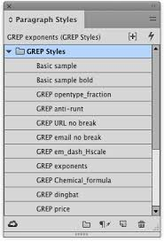 indesign template essentials grep styles indesignsecrets com
