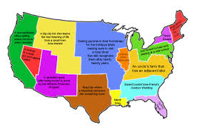 Massachusetts On Us Map by A Us Map Of Romantic Comedy Settings Or Storylines Based On