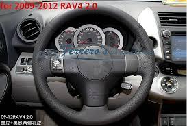 toyota rav4 steering wheel cover sew on genuine leather car steering wheel cover car accessories