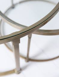 glass nesting coffee tables coffee table angelohome concrete and wood coffee table round nest