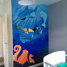 finding dory painted wall mural kids wall murals pinterest finding dory painted wall mural