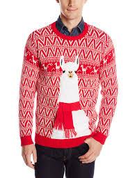 blizzard men u0027s festive llama ugly christmas sweater at amazon