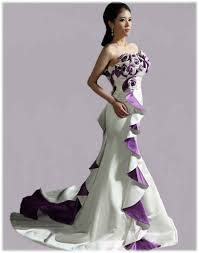 purple wedding dresses white and purple wedding dress inspiring on for amazing dresses