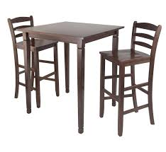 winsome 3pc kingsgate high pub dining table with ladder back high