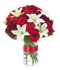 Red Carnations Elegance Bouquet At From You Flowers
