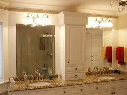 bathroom decoration using three lamps white glass cone bathroom