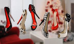 high heel shoe ornaments