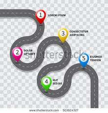 road map vector images illustrations and cliparts vector pathway road map