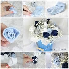 Baby Sock Corsage Wonderful Diy Baby Sock Rose Bouquet