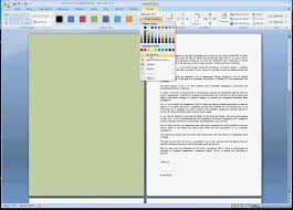 how to change the background color of a single page in msword avi